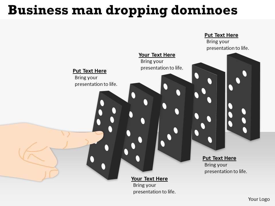 generate_a_chain_business_man_dropping_dominoes_response_powerpoint_diagram_templates_graphics_712_Slide01