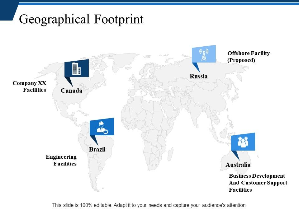 Geographical Footprint Powerpoint Themes Powerpoint Templates
