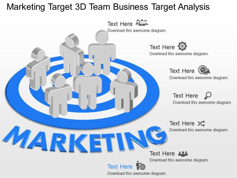 Gg Marketing Target 3D Team Business Target Analysis Powerpoint