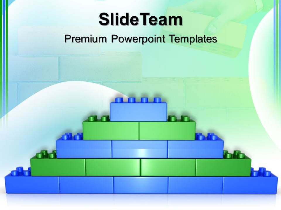 giant building blocks powerpoint templates lego brick wall