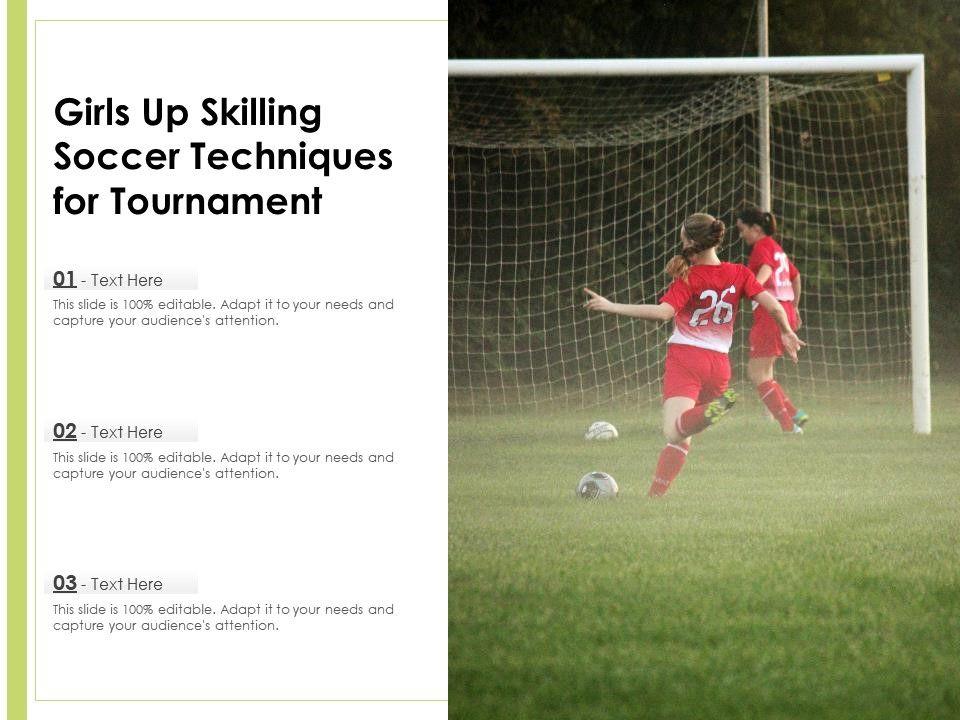 Girls Up Skilling Soccer Techniques For Tournament