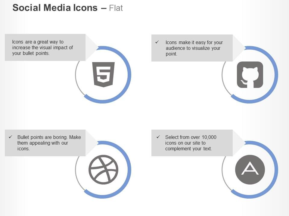 github square html5 dribble adn ppt icons graphics | presentation, Presentation templates