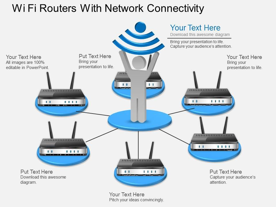 gk_wi_fi_routers_with_network_connectivity_powerpoint_template_Slide01