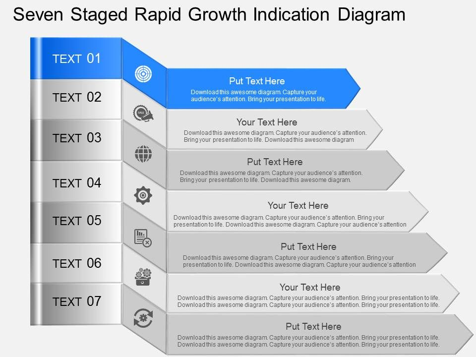gl_seven_staged_rapid_growth_indication_diagram_powerpoint_template_Slide01