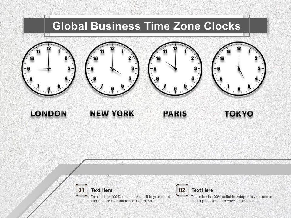 Global Business Time Zone Clocks