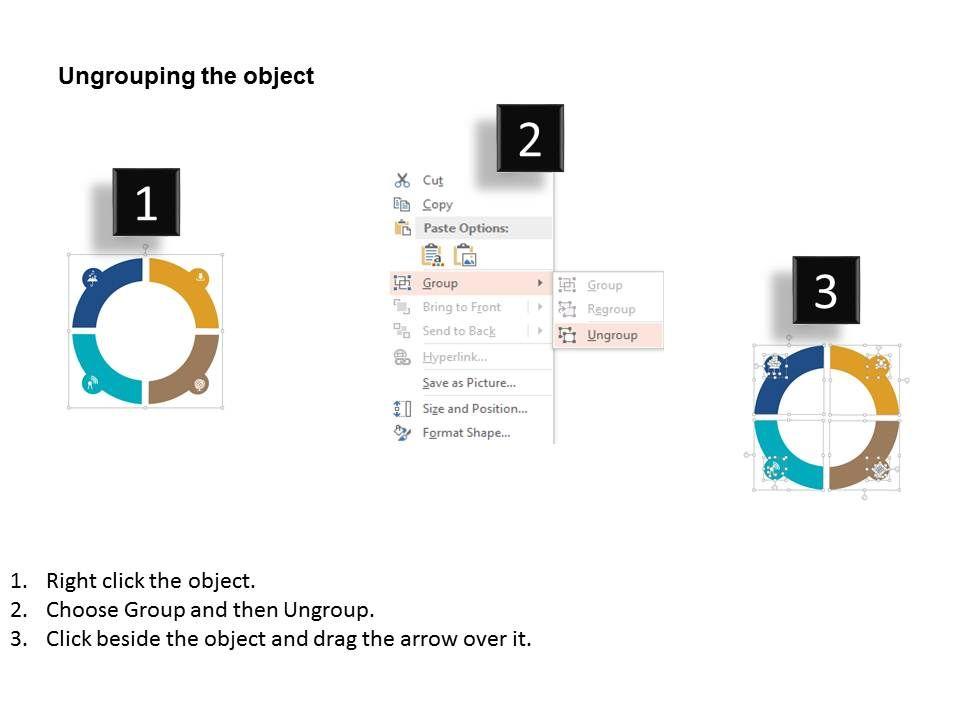 Global Data Protection Circle Diagram Flat Powerpoint Design