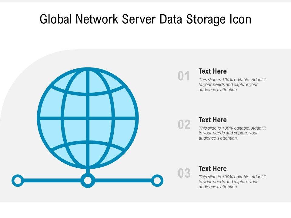 Global Network Server Data Storage Icon