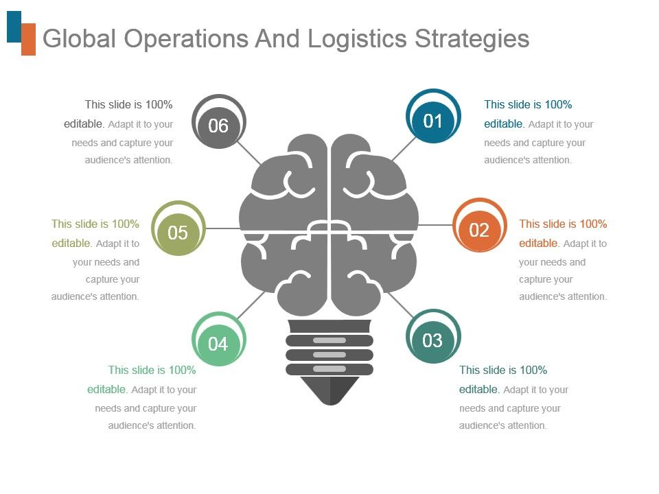 Global Operations And Logistics Strategies Ppt Infographics