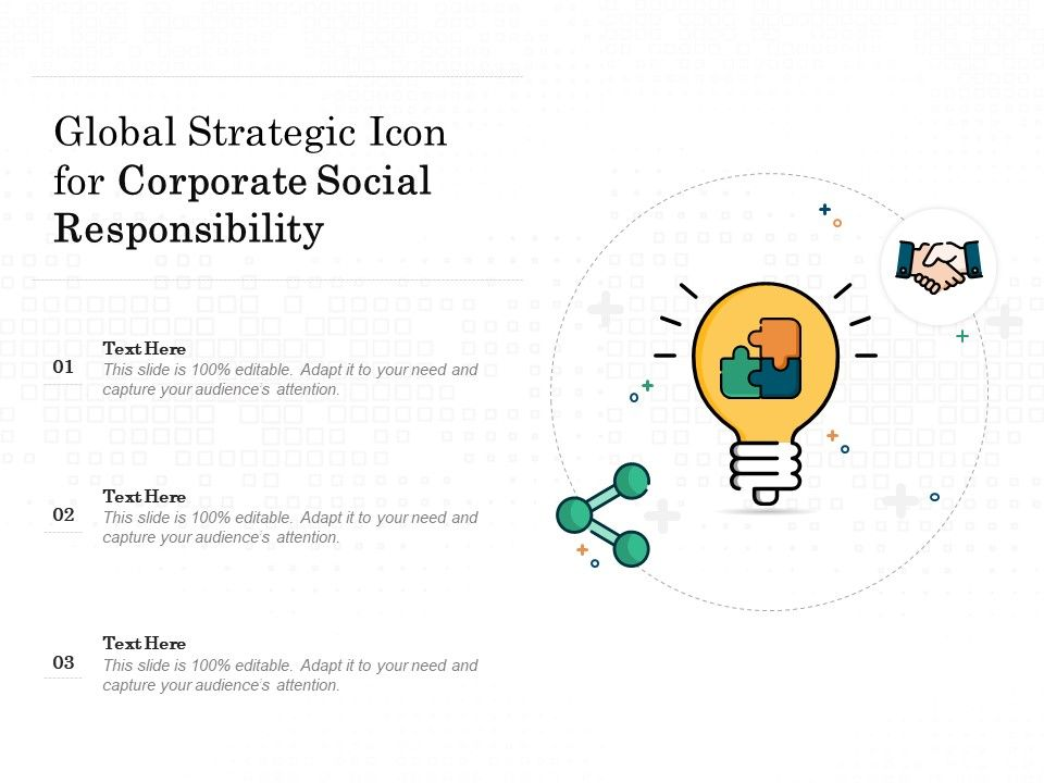 Global Strategic Icon For Corporate Social Responsibility
