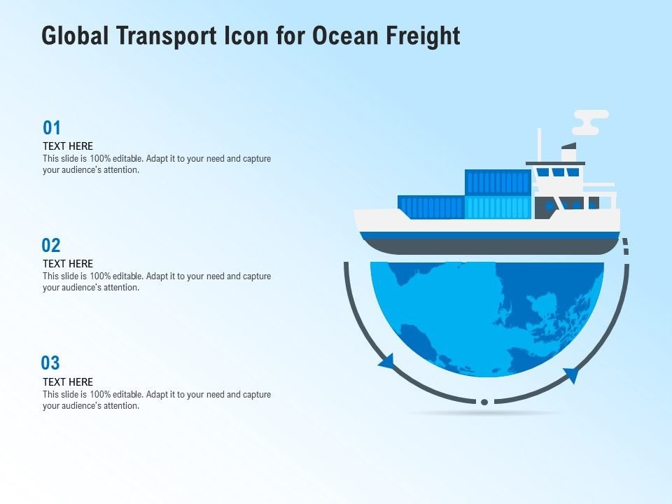 Global Transport Icon For Ocean Freight