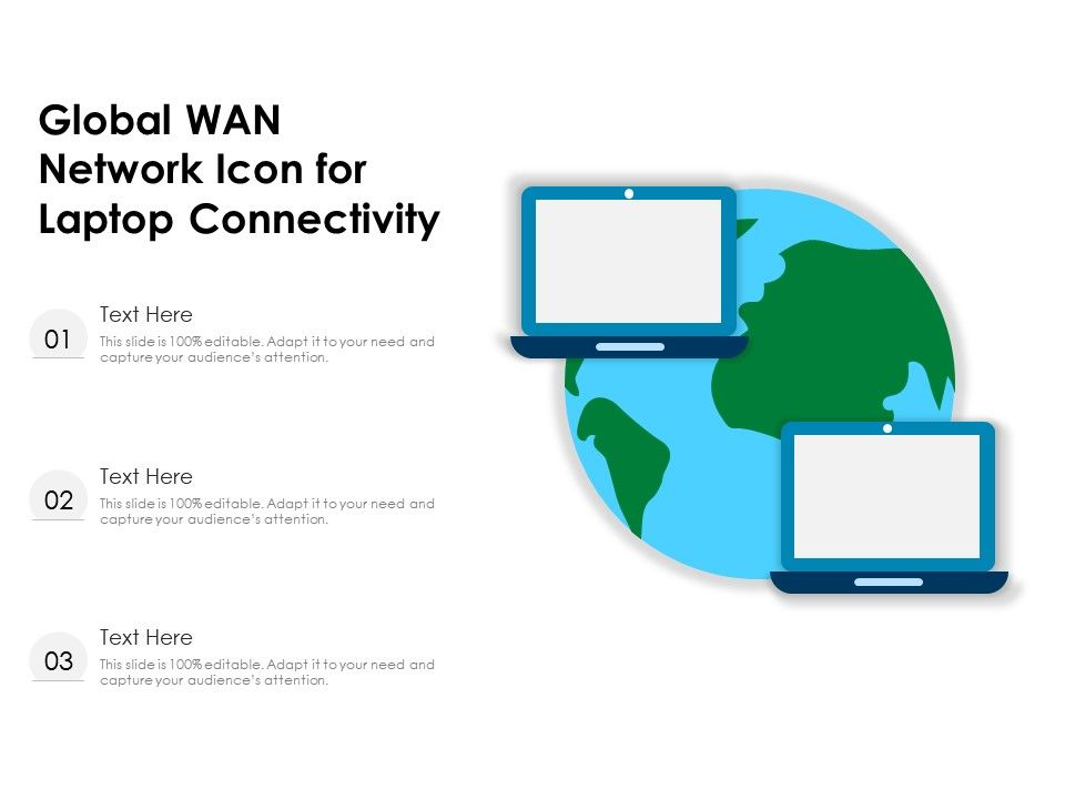 Global WAN Network Icon For Laptop Connectivity