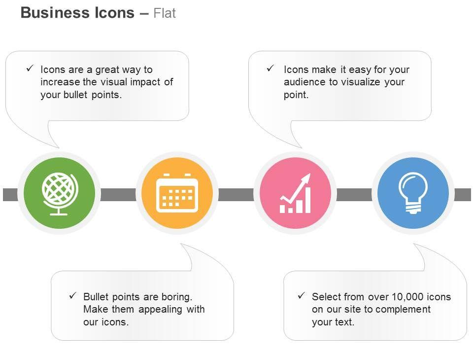 globe_folder_bar_graph_bulb_idea_generation_ppt_icons_graphics_Slide01