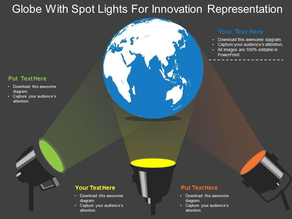globe_with_spot_lights_for_innovation_representation_ppt_presentation_slides_Slide01