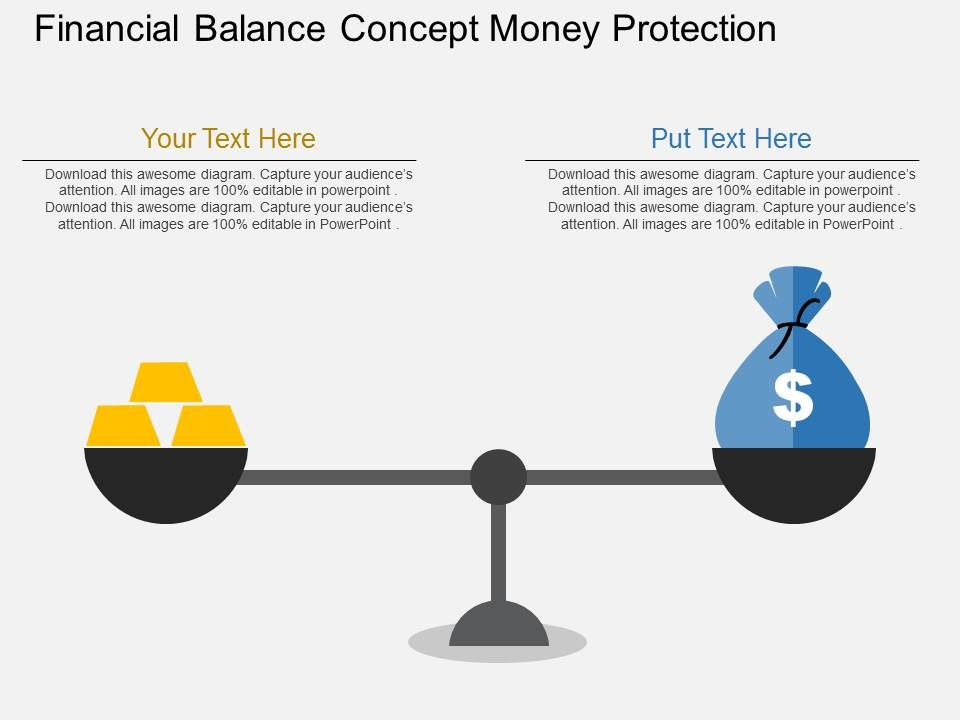gm_financial_balance_concept_money_protection_flat_powerpoint_design_Slide01