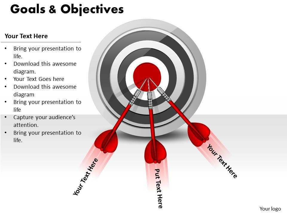 Our Goals And Objectives Powerpoint Template Slide bring about ...
