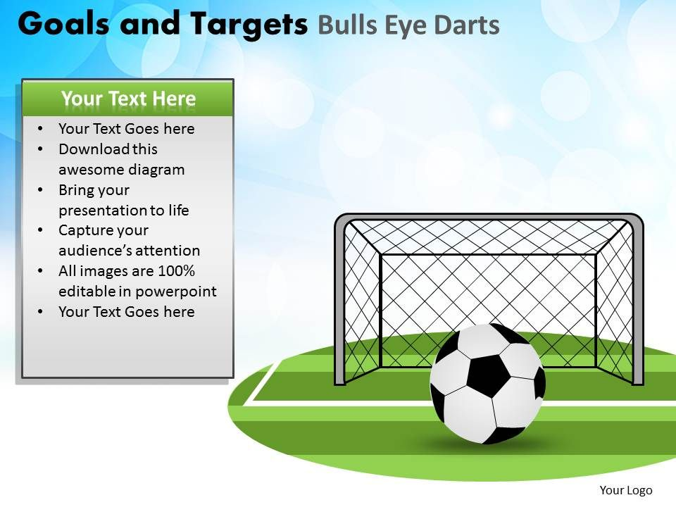 goals and targets bulls eye darts powerpoint slides and ppt templates db. Black Bedroom Furniture Sets. Home Design Ideas
