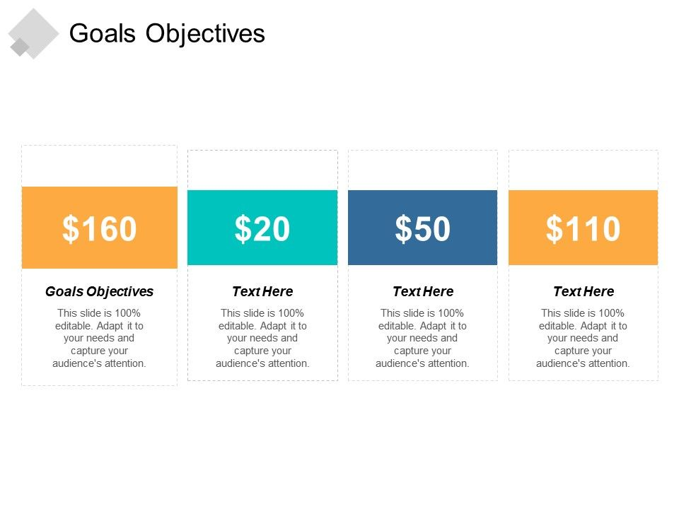 Goals Objectives Ppt Powerpoint Presentation File Example