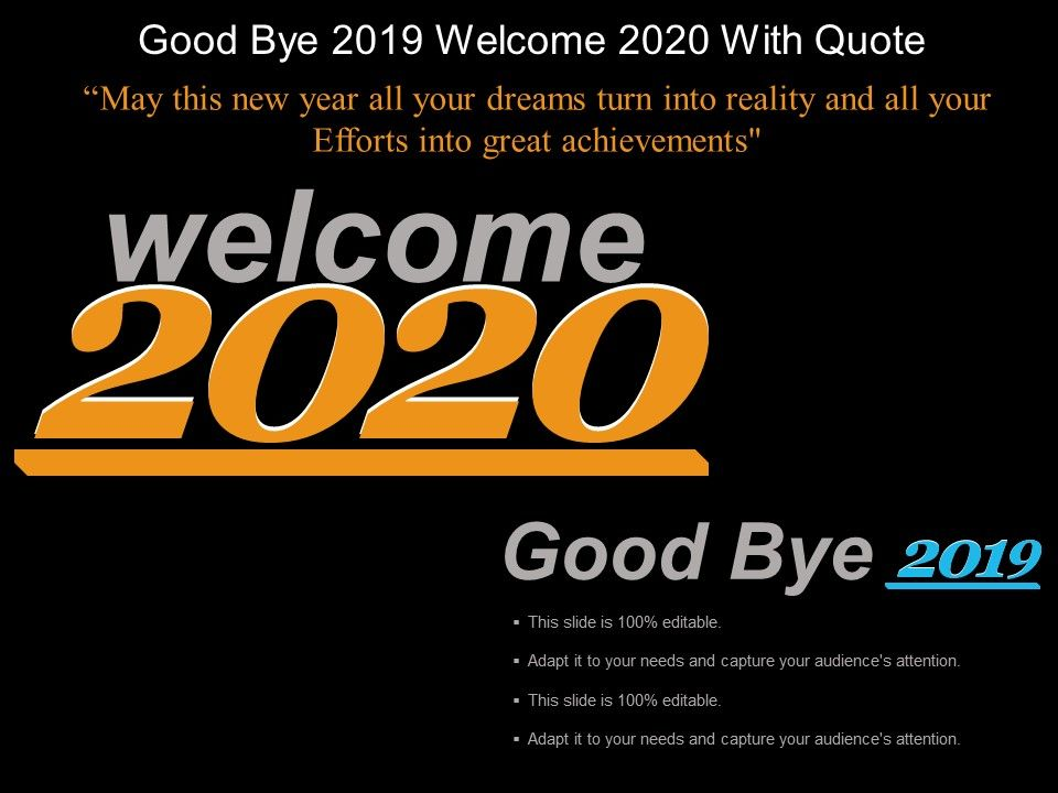 good bye welcome quote example of ppt