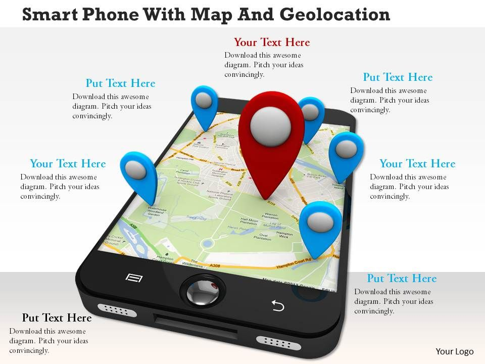 Google Maps App For Android Smartphone | PowerPoint Slide Template