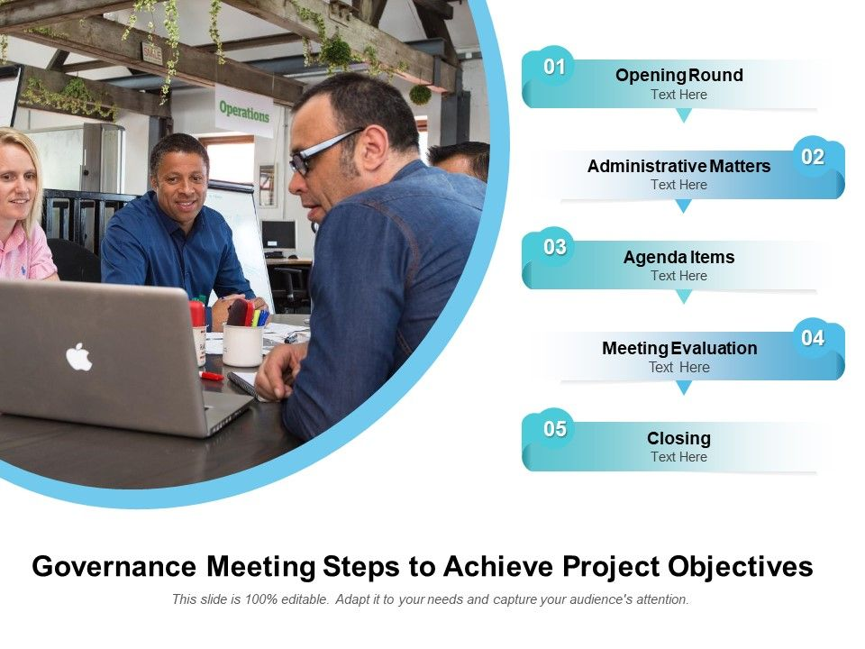 Governance Meeting Steps To Achieve Project Objectives