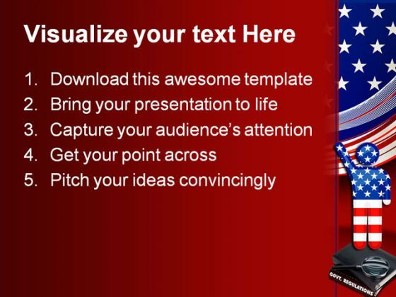 government regulations america powerpoint template 0610, Powerpoint templates