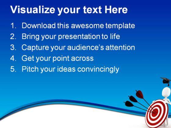 graduation target education powerpoint templates and powerpoint, Powerpoint templates