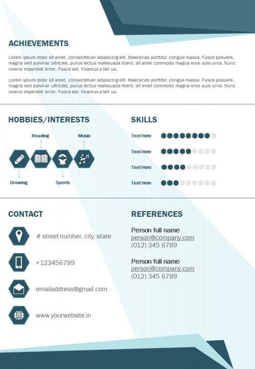 Graphic Designer Curriculum Vitae Business Resume A4 Graphics