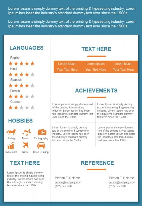 Graphic Designer Resume Design Template Curriculum Vitae Ppt Powerpoint Slides Diagrams Themes For Ppt Presentations Graphic Ideas