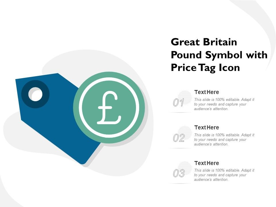 Great Britain Pound Symbol With Price Tag Icon