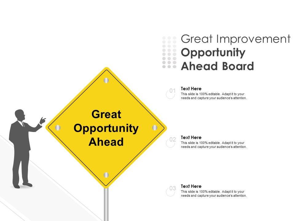 Great Improvement Opportunity Ahead Board