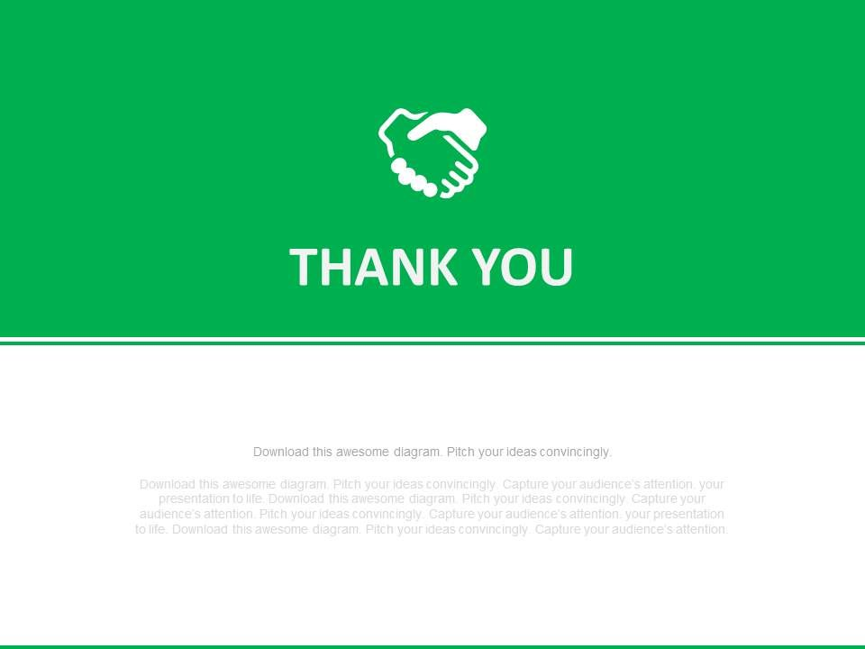 Green And White Thank You Text Slide Powerpoint Slides | PowerPoint