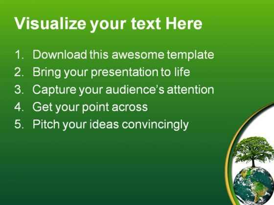 green earth energy globe powerpoint template 0810 | powerpoint, Presentation templates
