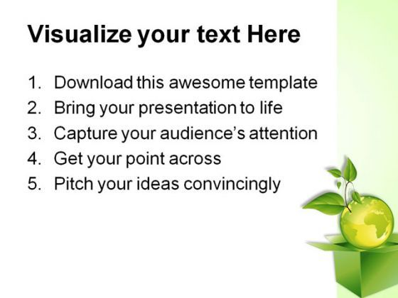 green planet globe powerpoint template 0910 | powerpoint, Presentation templates