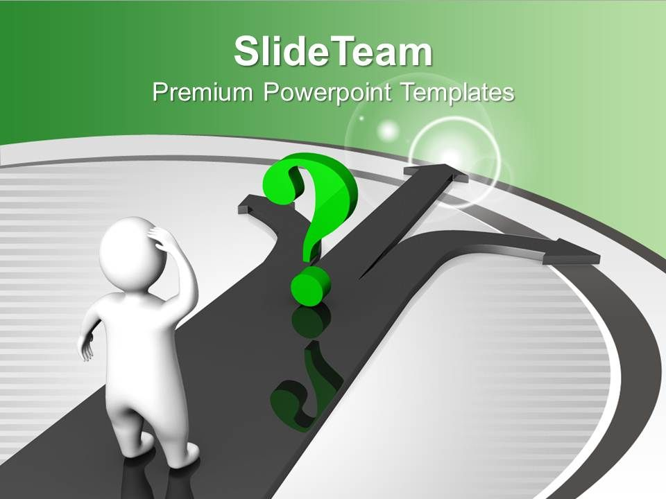 green_question_and_man_on_arrow_confused_powerpoint_templates_ppt_themes_and_graphics_0113_Slide01