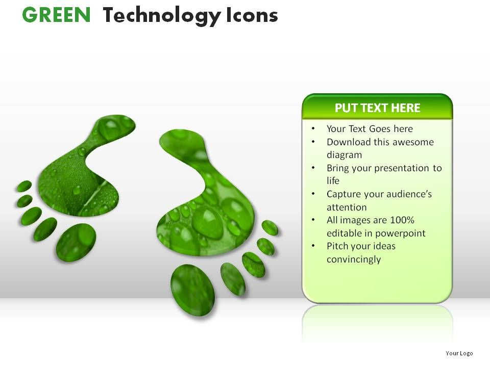 Green technology icons powerpoint presentation slides Examples of green technology