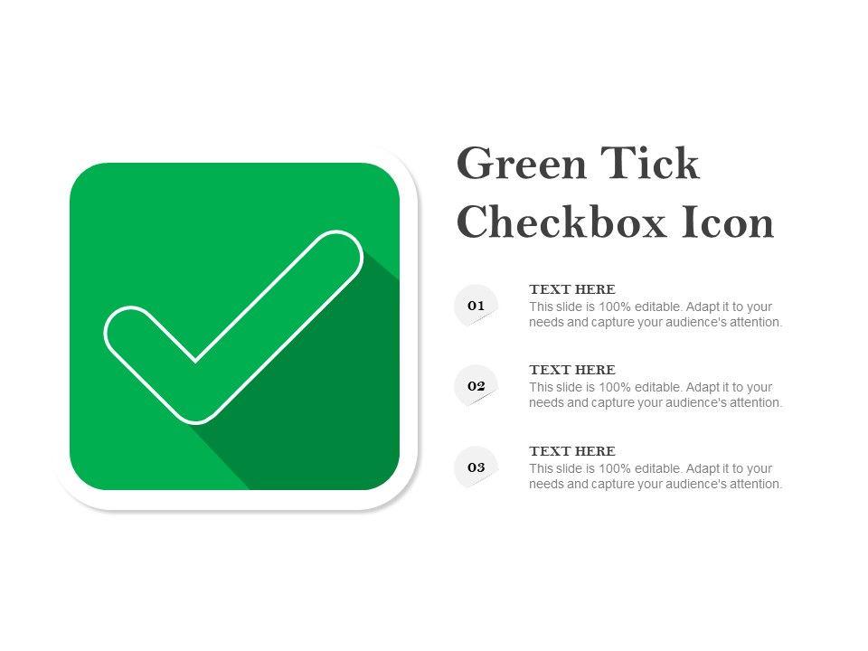 Green Tick Checkbox Icon