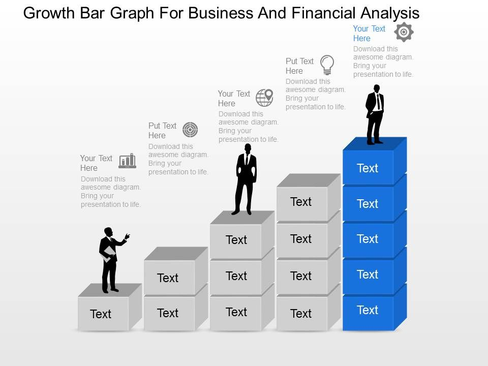 Growth Bar Graph For Business And Financial Analysis Powerpoint