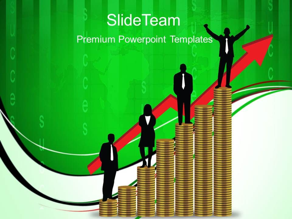 Growth Line Graphs And Bar Powerpoint Templates Money Success Ppt