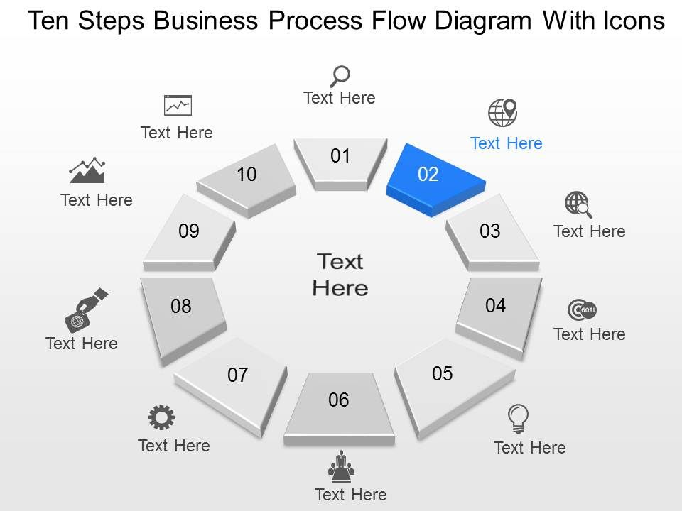 Gs Ten Steps Business Process Flow Diagram With Icons