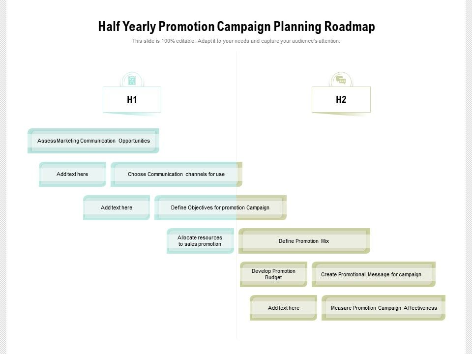 Half Yearly Promotion Campaign Planning Roadmap