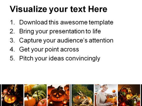 halloween collage festival powerpoint templates and powerpoint