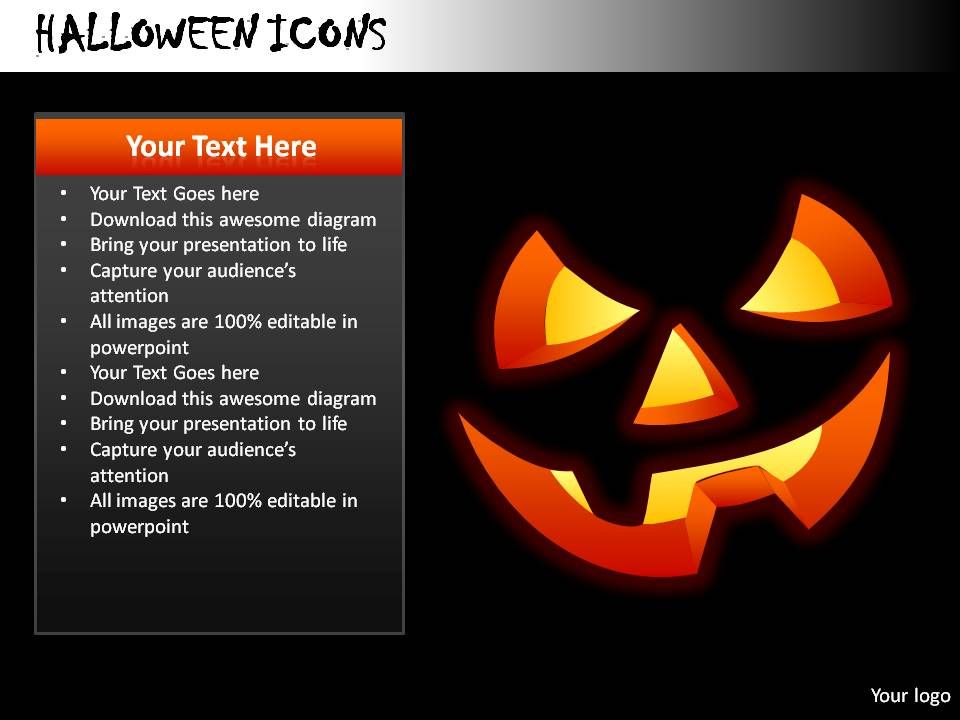 halloween icons powerpoint presentation slides templates