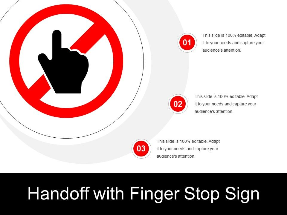 handoff with finger stop sign powerpoint slide template