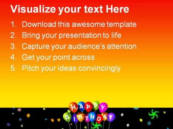 happy birthday festival powerpoint templates and powerpoint, Powerpoint templates