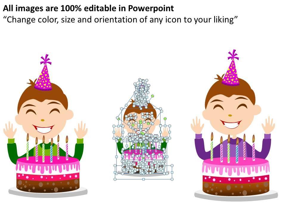 Happy Birthday Powerpoint Presentation Slides   Graphics