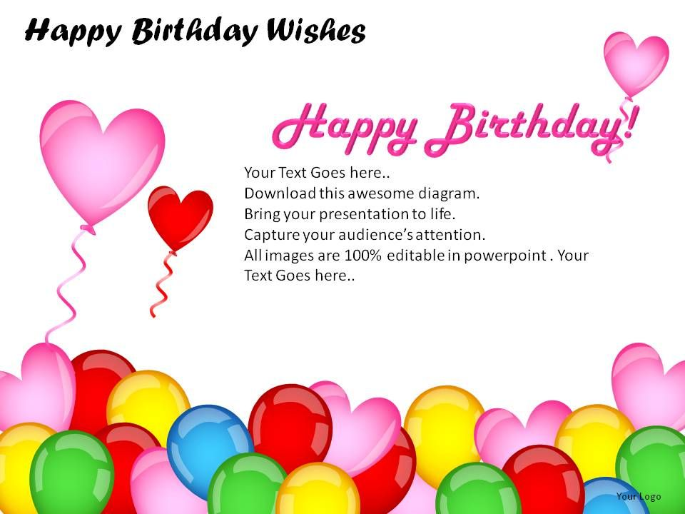 Happy Birthday Wishes Powerpoint Presentation Slides Slide01 Slide02