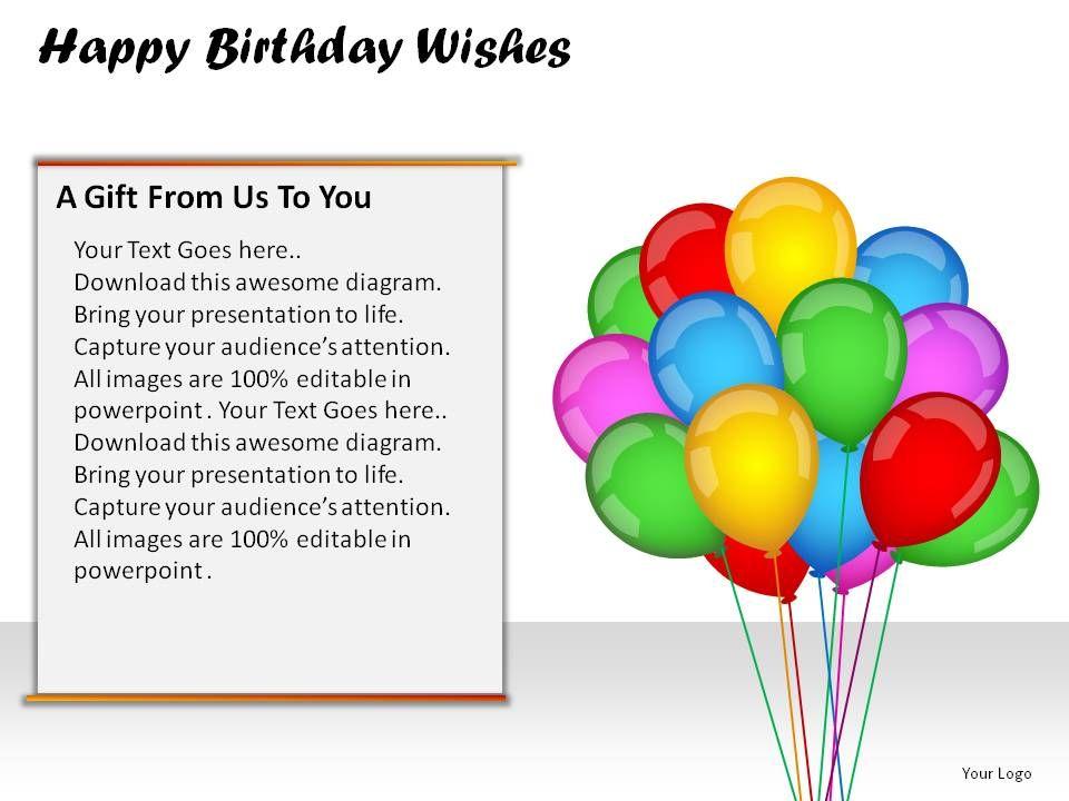 Happy Birthday Wishes Powerpoint Presentation Slides – Happy Birthday Greeting Text