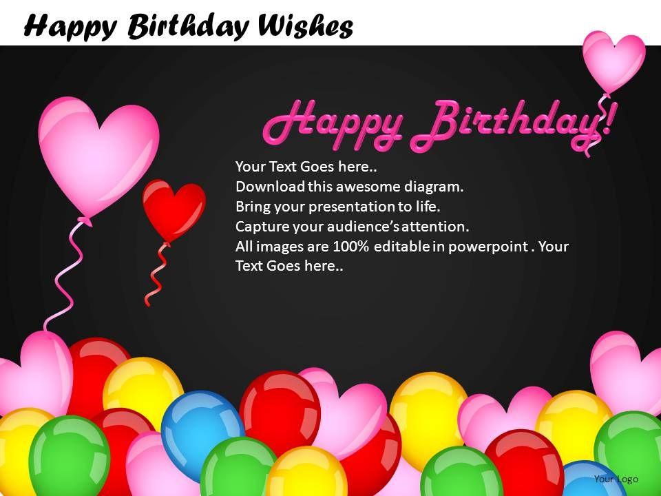 happy birthday wishes powerpoint presentation slides db