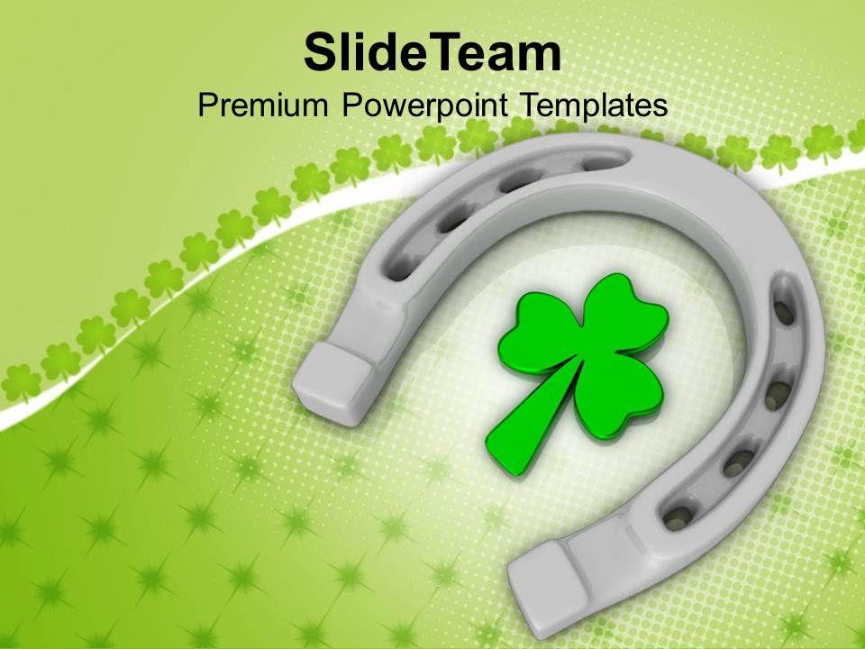 happy_st_patricks_day_horse_shoe_with_clover_leaf_templates_ppt_backgrounds_for_slides_Slide01