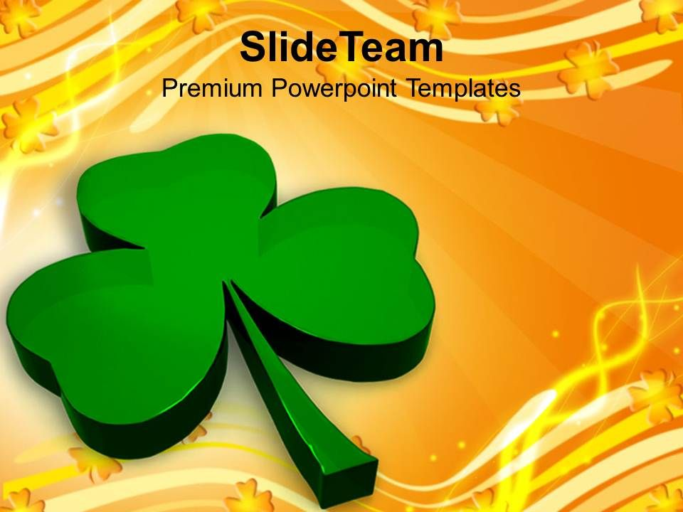 happy_st_patricks_day_illustration_of_glossy_clover_holiday_templates_ppt_backgrounds_for_slides_Slide01